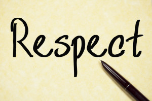respect word write on paper